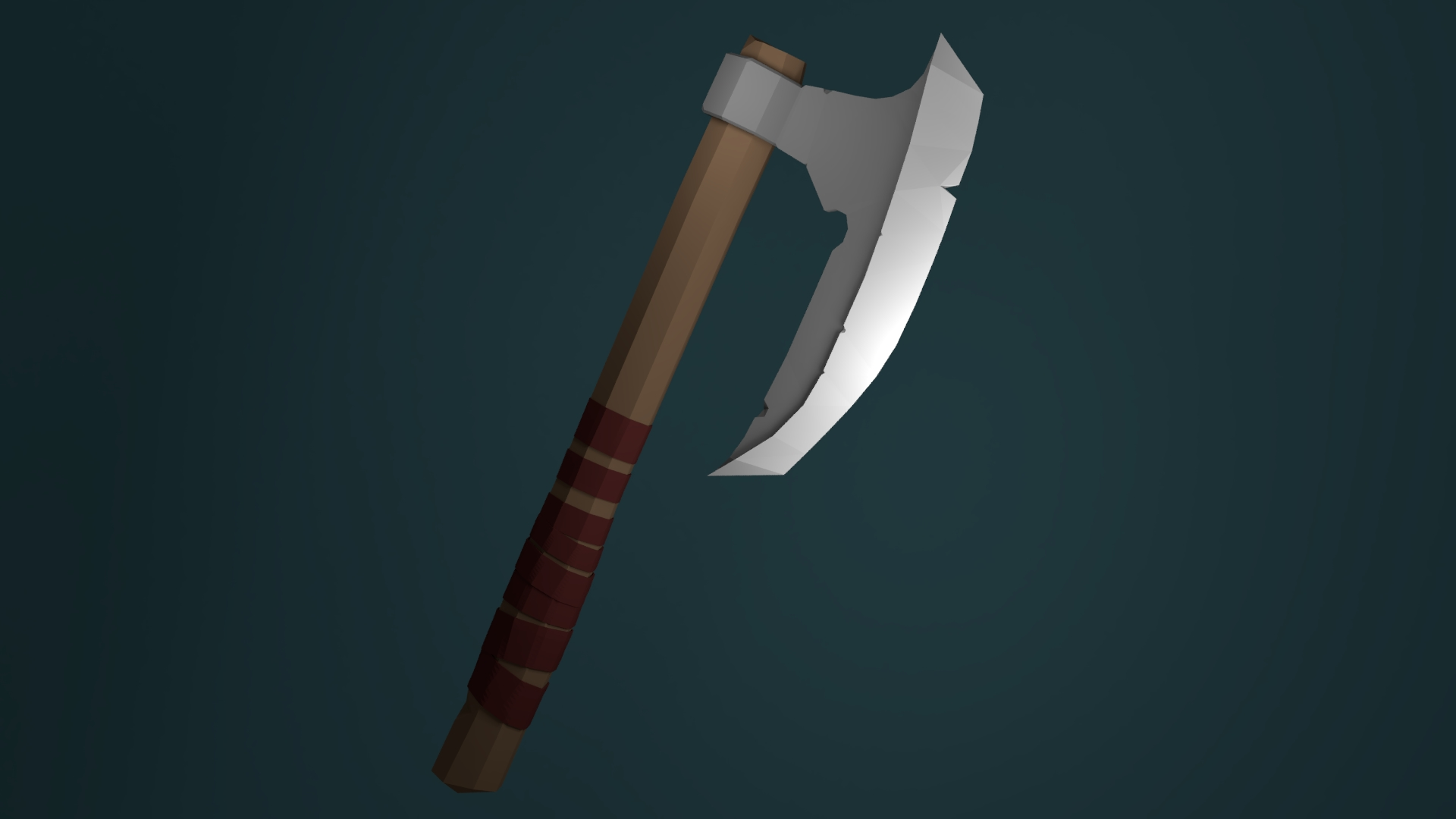 Viking Axe Low Poly