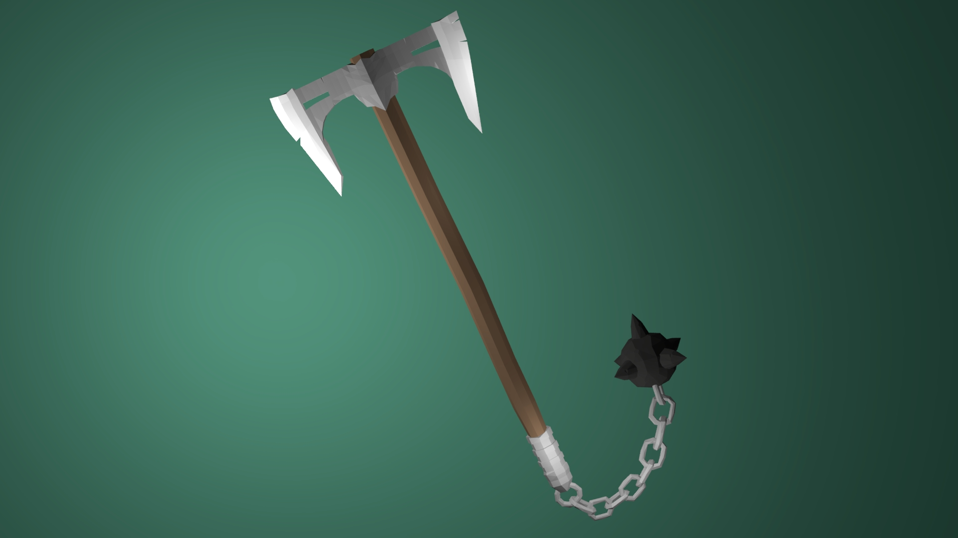 Viking Double Axe Low Poly